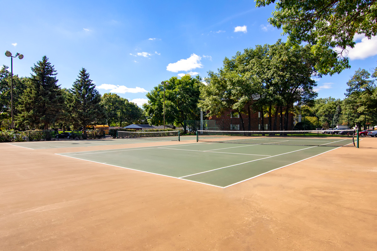 Large green Tennis Court